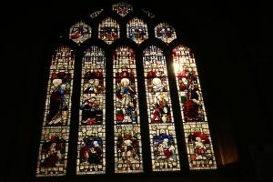 One of the many windows inside Bath Abbey
