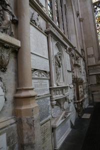 Just some of the grave markers inside Bath Abbey