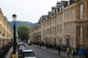 One of many streets in Bath - deliberate, golden, Palladian.