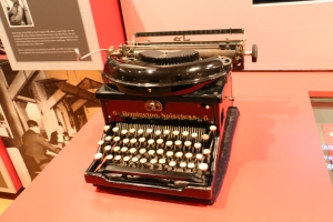 Apparently Churchill insisted the secretaries use noiseless typewriters - he was sensitive to noise.