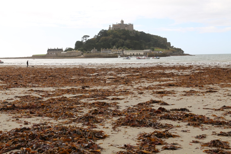 View of the Mount before the tide came in.