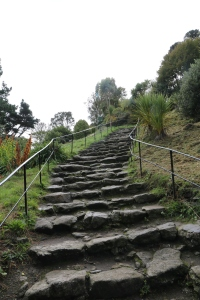 Just part of the steps up to the castle