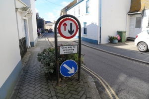 Typical street situation, this one in Marazion