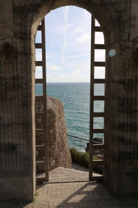 View from the Minack out across the Atlantic Ocean