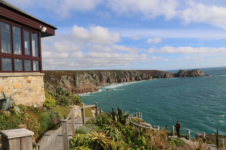 View of the cliffs above Porthcurno