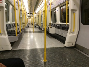 This happened exactly once in my 9 weeks in London... empty train carriage: the unicorn of urban living.