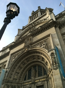 The exterior of the Victoria & Albert Museum