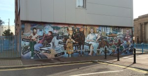 Mural in West Belfast