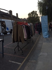 Some of the second-hand clothes stalls