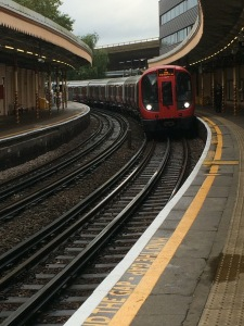 Train arriving at Westbourne Park
