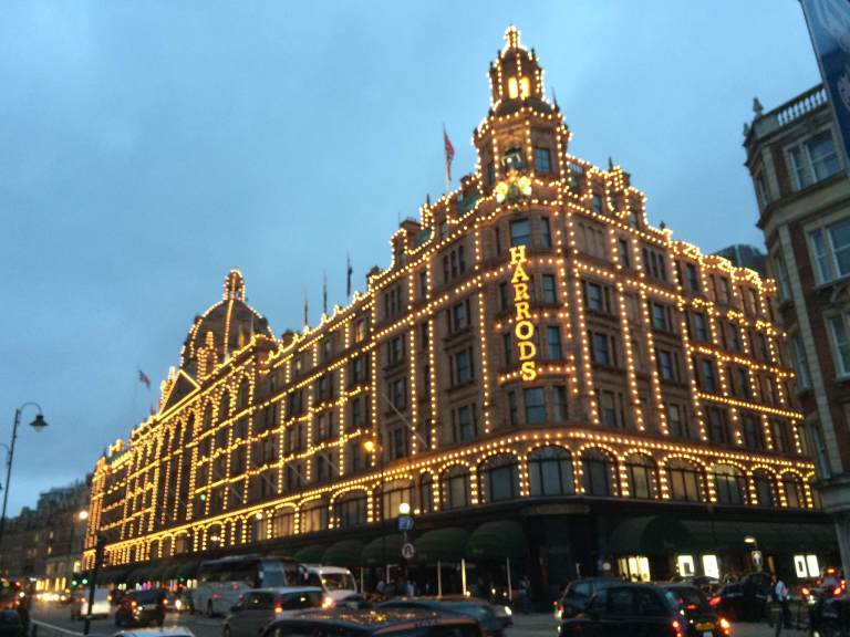 Harrods, the other famous department store. It's like shopping in a museum