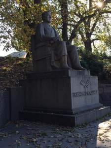 Monument to FDR, who said of Norway in 1942: