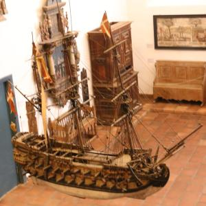 This boat was in the church art exhibit.