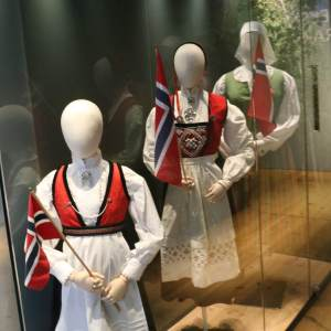 Traditional Norwegian dress, part of the Folk Dress exhibit