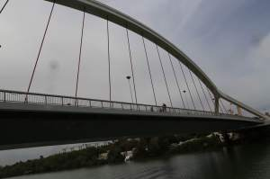 This is one bridge across the Guadalquivir River, built for the Expo in 1992.