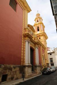When you walk around Seville, you will find a church on every corner or in each little square. This is just one.
