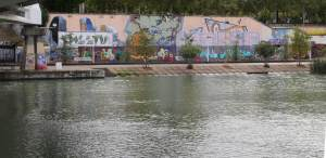 Street art along the river