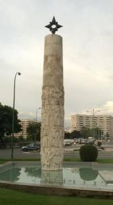 Column commemorating Magellan's voyage.