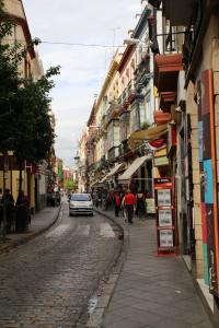 One of Seville's winding streets - even with phone-guided directions, it's super easy to get lost here.