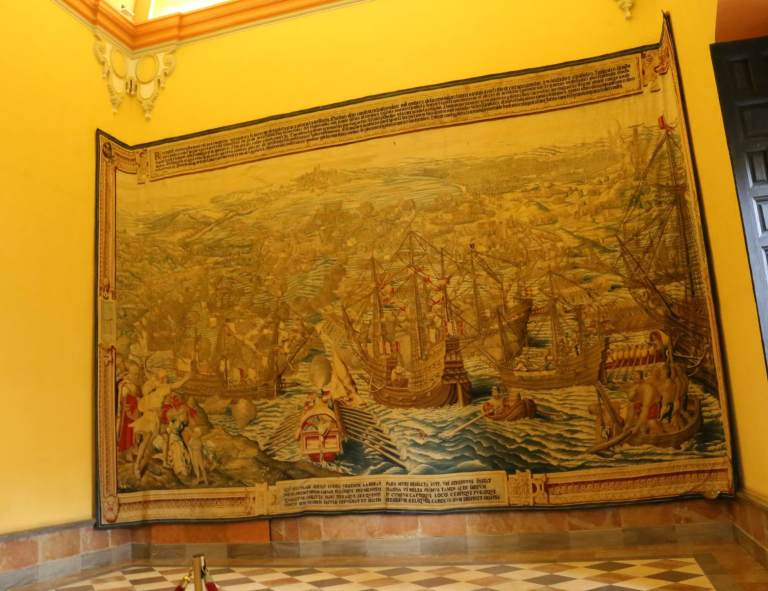 Immense tapestry in the Renaissance part of the palace