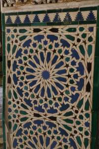 Detail of one of the walls in the Throne Room.
