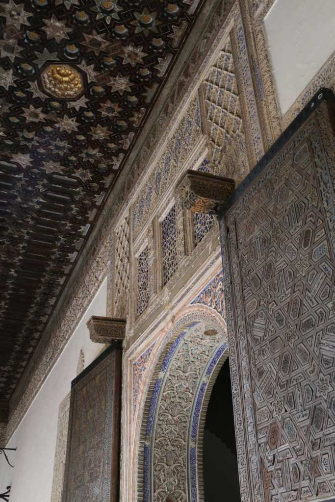 Every wall, ceiling, door and window has an elaborate motif.