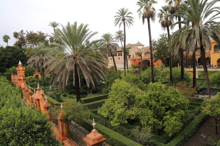 The Italian side of the gardens