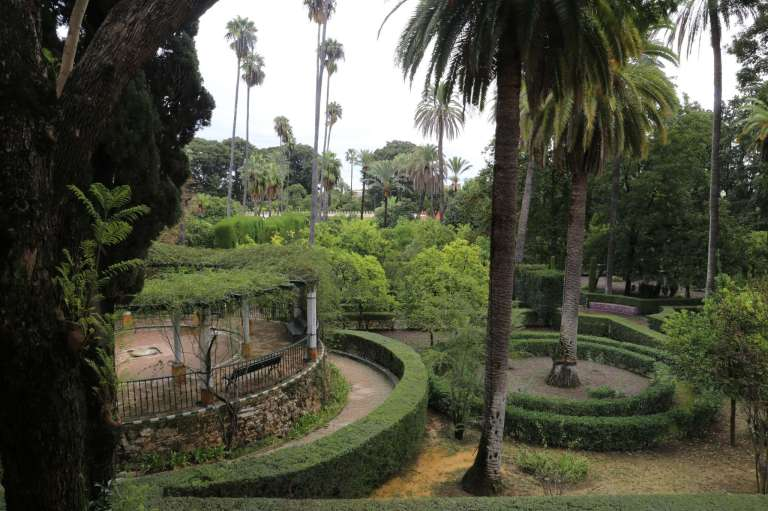 The French side of the gardens