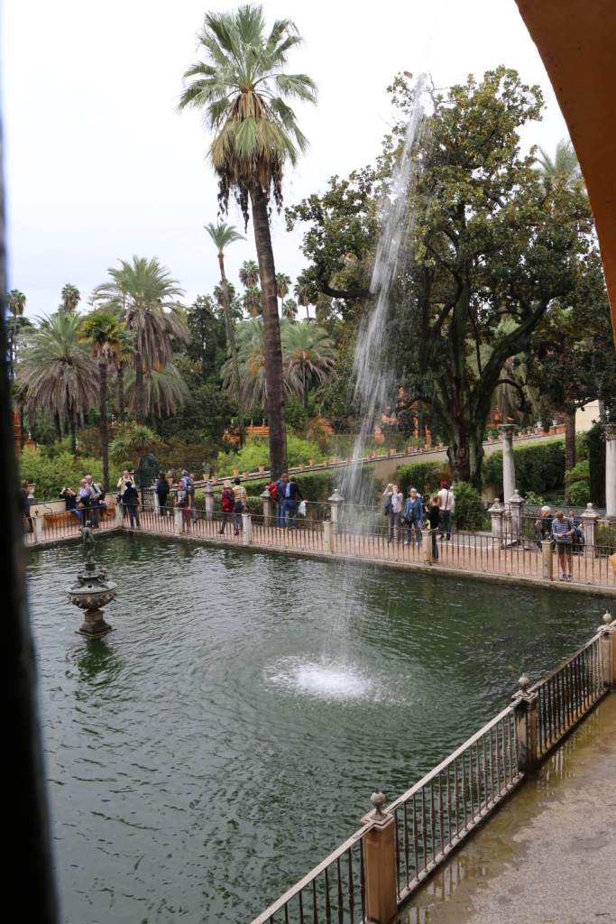 The view from the palace into the gardens