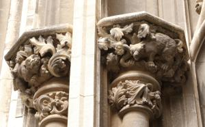 Detail of one of the columns on the front exterior - you don't see many dragons in Spain