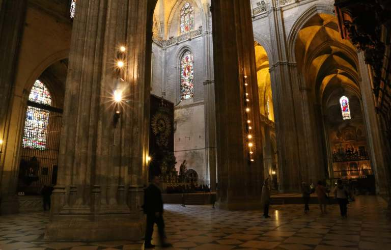 The interior of the Cathedral is relatively dark, but it adds to the solemn atmosphere of the place