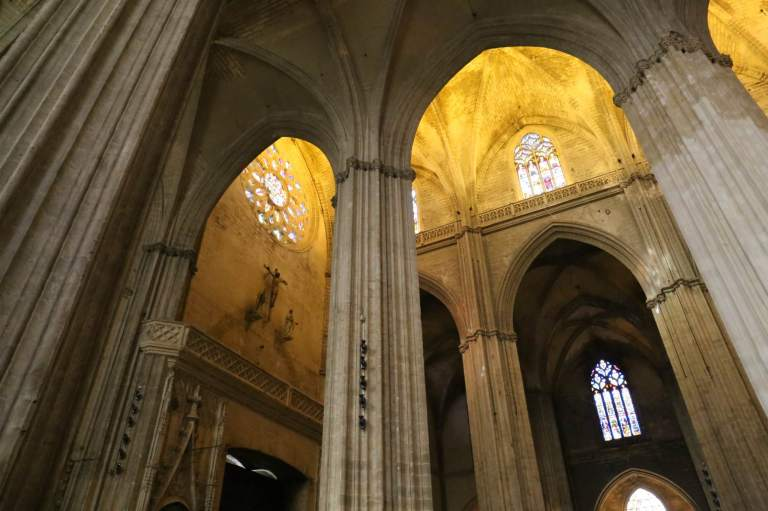 It's easy to see how the designers of the Cathedral wanted parishioners to think of heaven when inside - the vaulted ceilings draw your eyes upward