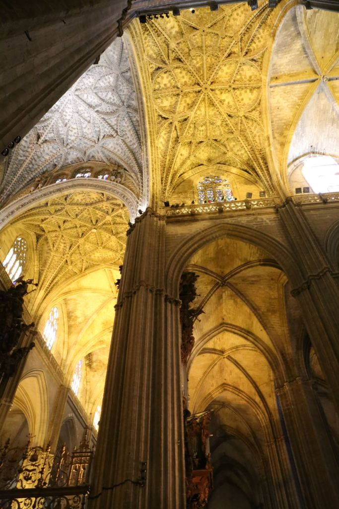 One of the many vaulted ceilings inside the Cathedral