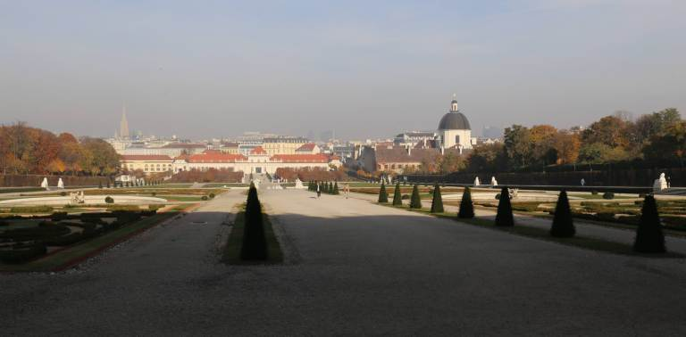View of the Schloss Belvedere from the Upper Belvedere