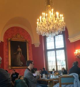 Upper Belvedere Cafe with Empress Sisi painting
