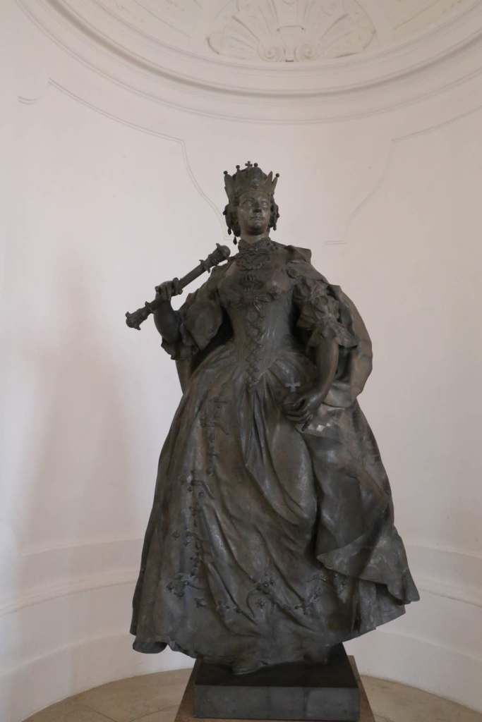 Maria Theresa statue inside the Upper Belvedere Palace