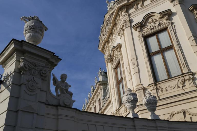 Detail of the Upper Belvedere Palace