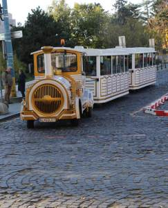 Tourist train to the castle - we didn't take it, but it looks so elegant and cute.