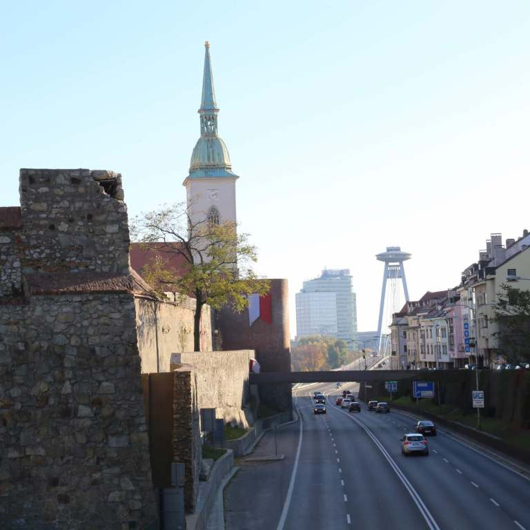 An interesting blending of the old and new in Bratislava