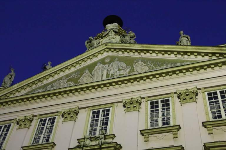 Detail on the Primaciálny palác, the mayor's office and a music hall
