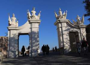 Gates into Bratislava Castle