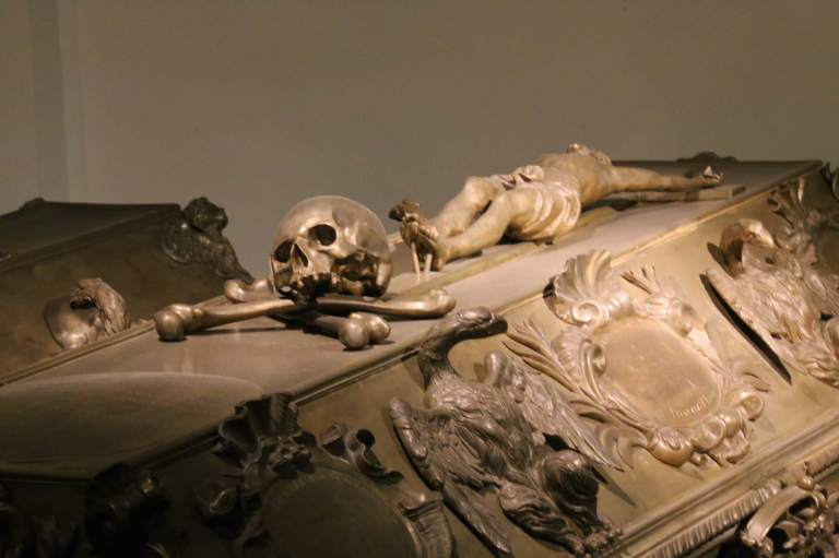 Some of the tomb decorations are quite macabre