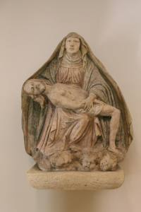 A unique Pieta at the entrance to the Crypts
