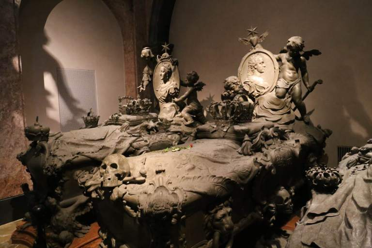 Several of the tombs in the alcove with Maria Theresa