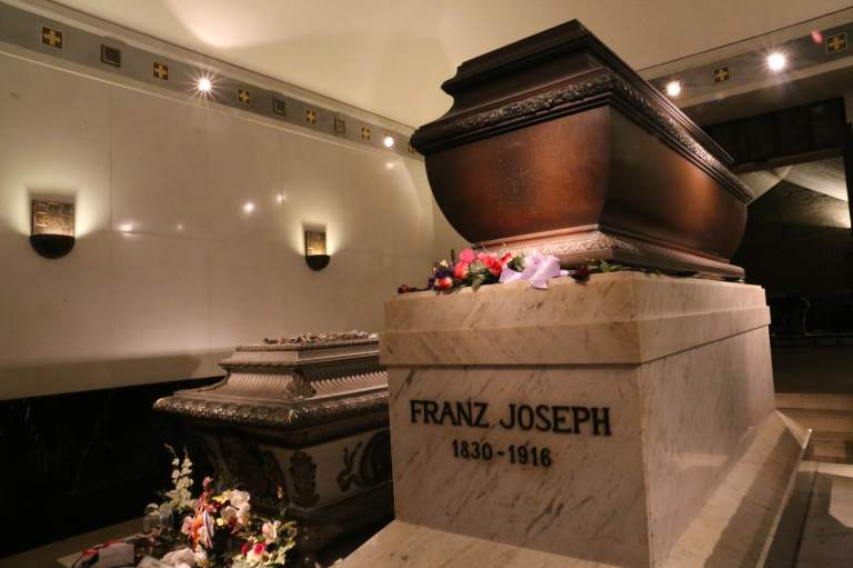 Franz Joseph and his wife Elisabeth's tombs
