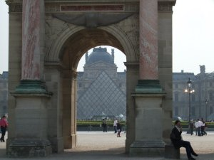 The Louvre from the Tuileries Gardens, taken in April 2009