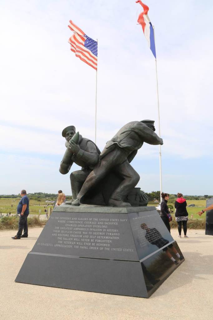US Navy Memorial on Utah Beach, taken in August 2015