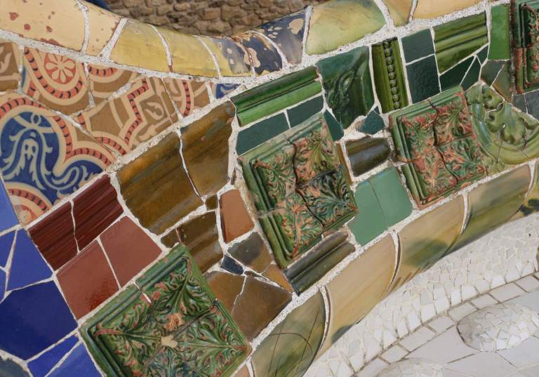Mosaic detail - the patterns and colors are extensive