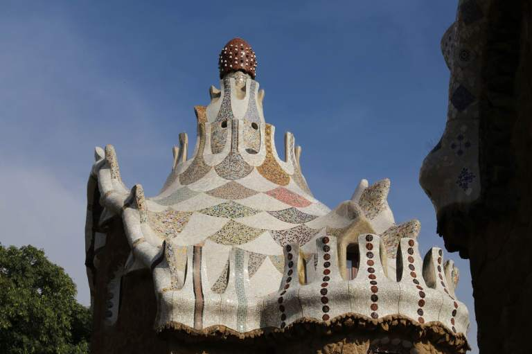 The top of Gaudi's house at the park