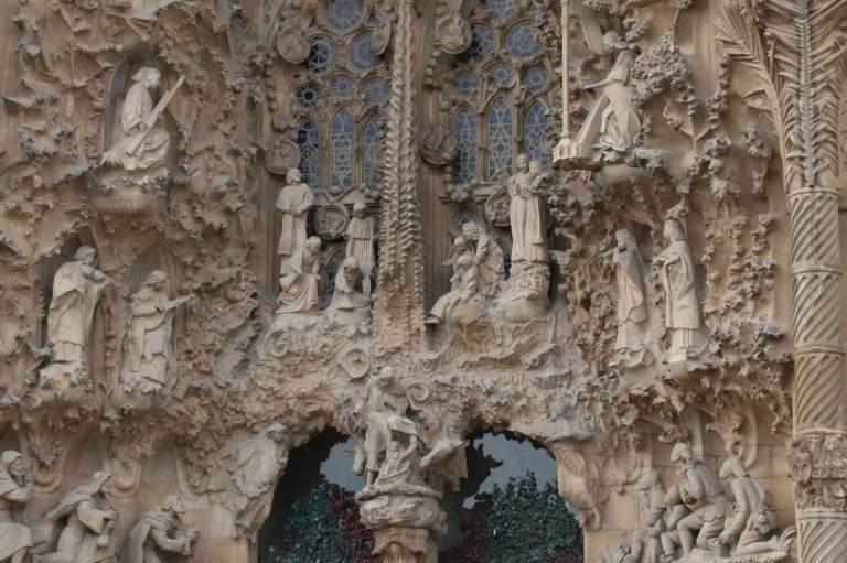 Nativity side of Sagrada Familia
